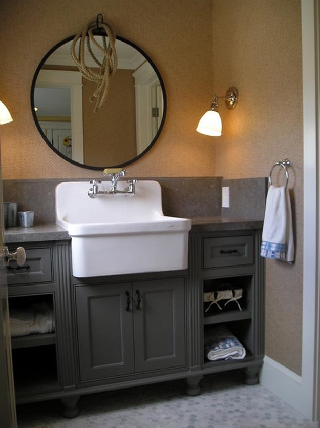Farmhouse Style Bathroom Sink Ideas 36