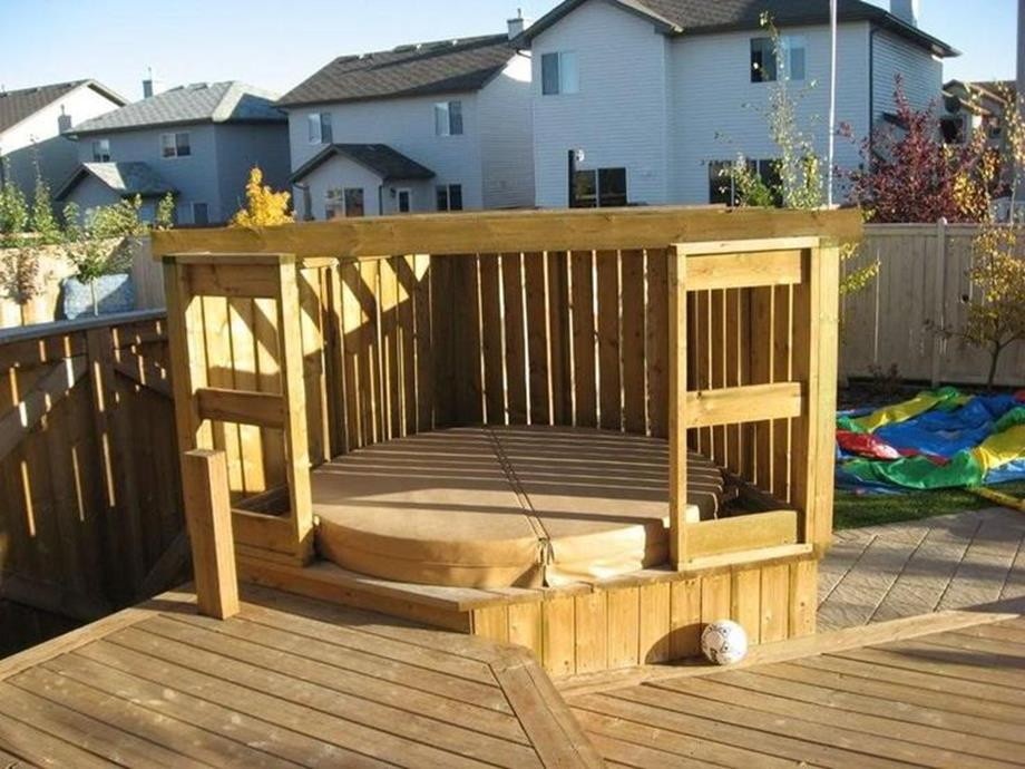 Perfect Outdoor Hot Tub Privacy Ideas 14