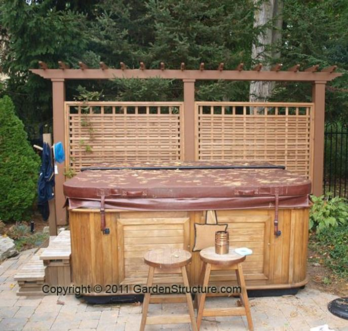 Perfect Outdoor Hot Tub Privacy Ideas 16