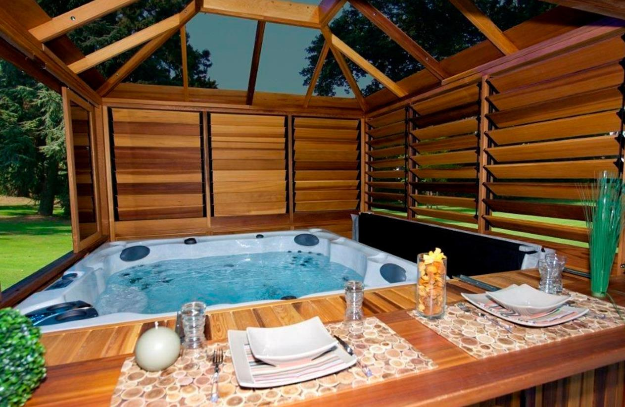 Perfect Outdoor Hot Tub Privacy Ideas 29