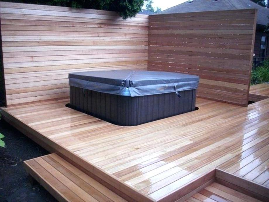 Perfect Outdoor Hot Tub Privacy Ideas 5