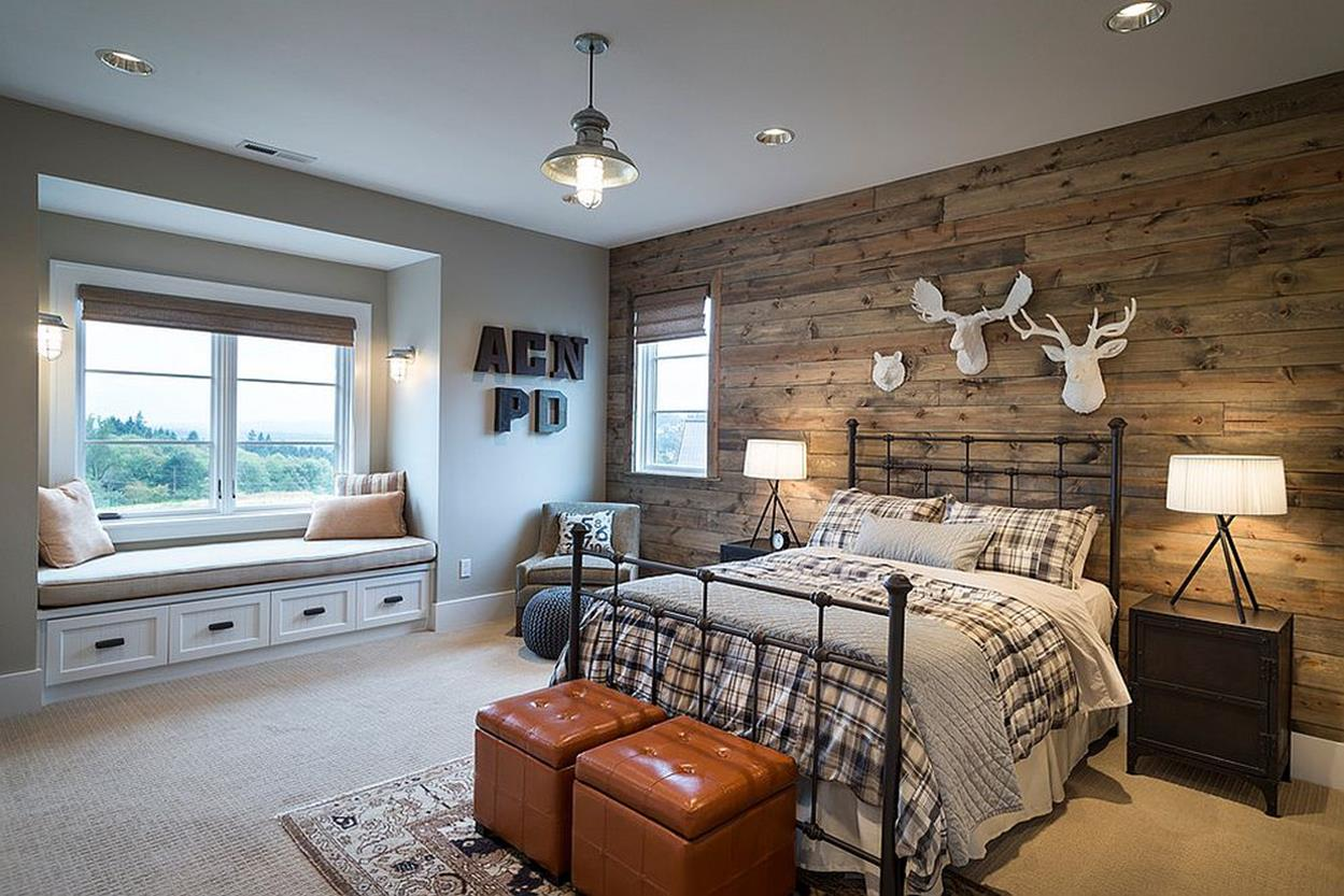Rustic Bedroom Wall Decorating Ideas 35
