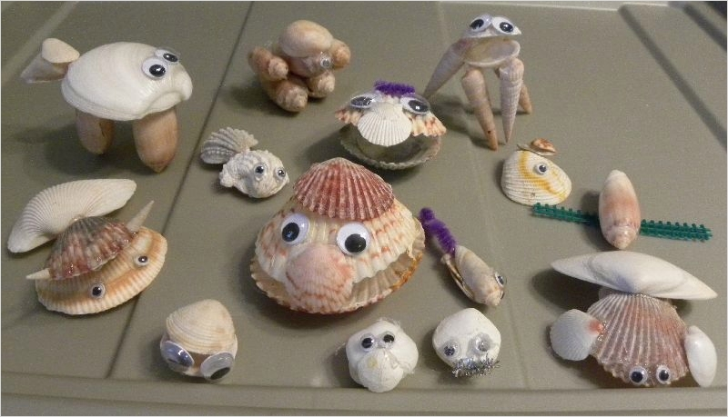 40 Diy Easy Seashell Craft Ideas 25 Shell Animal Creatures Craft for Kids origami Instructions Art and Craft Ideas 4