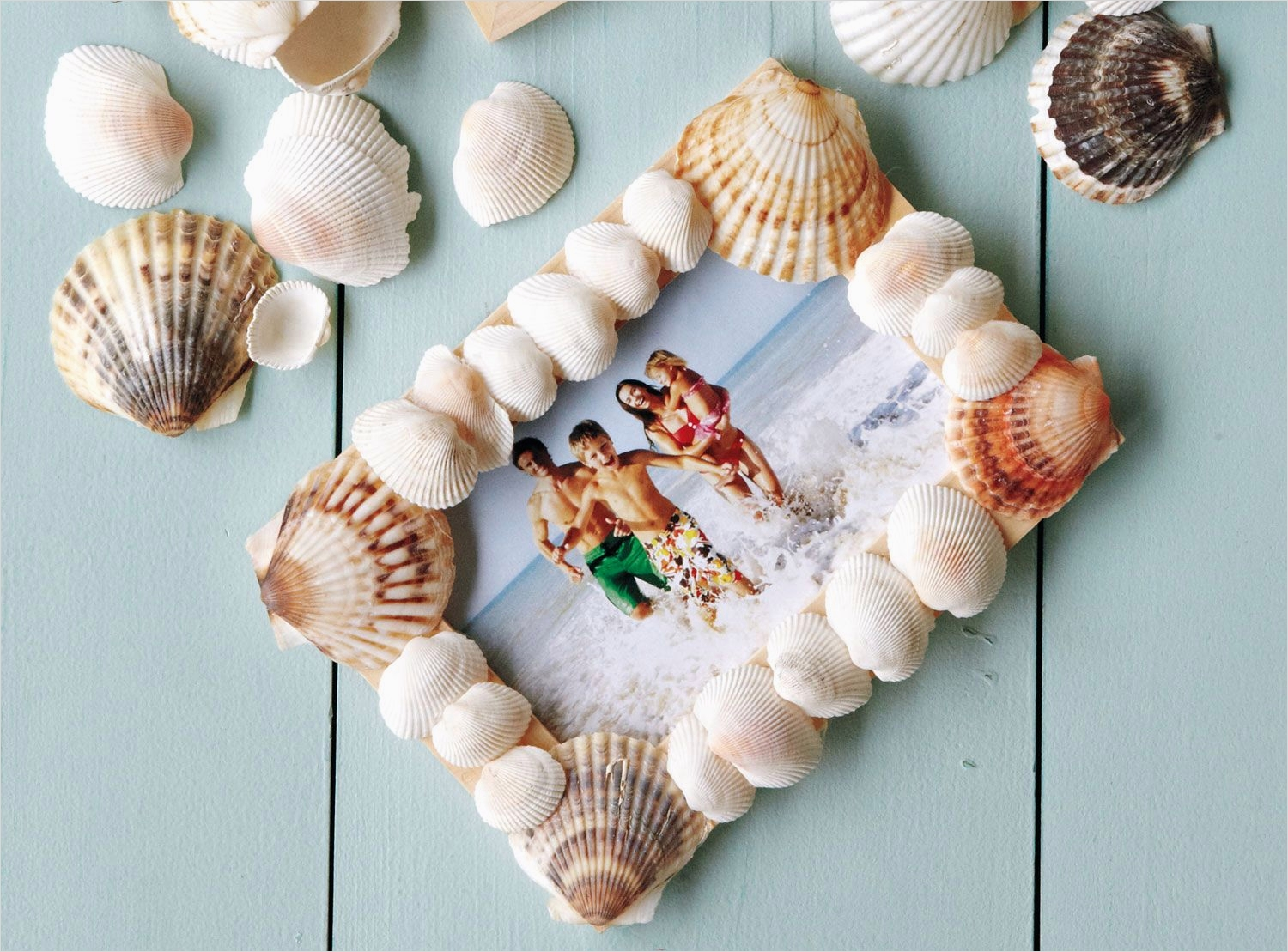 40 Diy Easy Seashell Craft Ideas 87 How to Make A Seashell Picture Frame 5