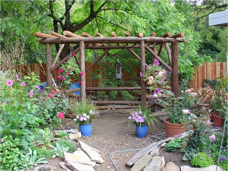 44 Amazing Rustic Garden Ideas 74 Breathtaking Rustic Garden Gazebo From Redwood Posts Karen Mickleson In Addition to 3