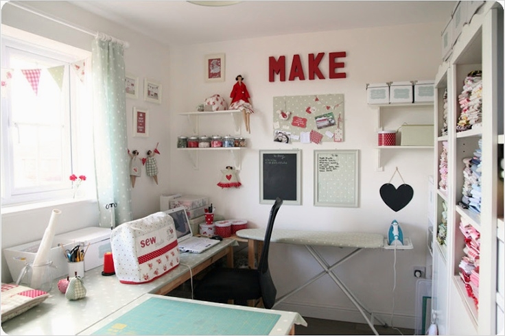 Sewing Room Ideas for Small Spaces 67 356 Best Dream Sewing Room Images On Pinterest 2