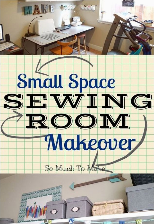 Sewing Room Ideas for Small Spaces 54 Small Space Sewing Room Makeover 7