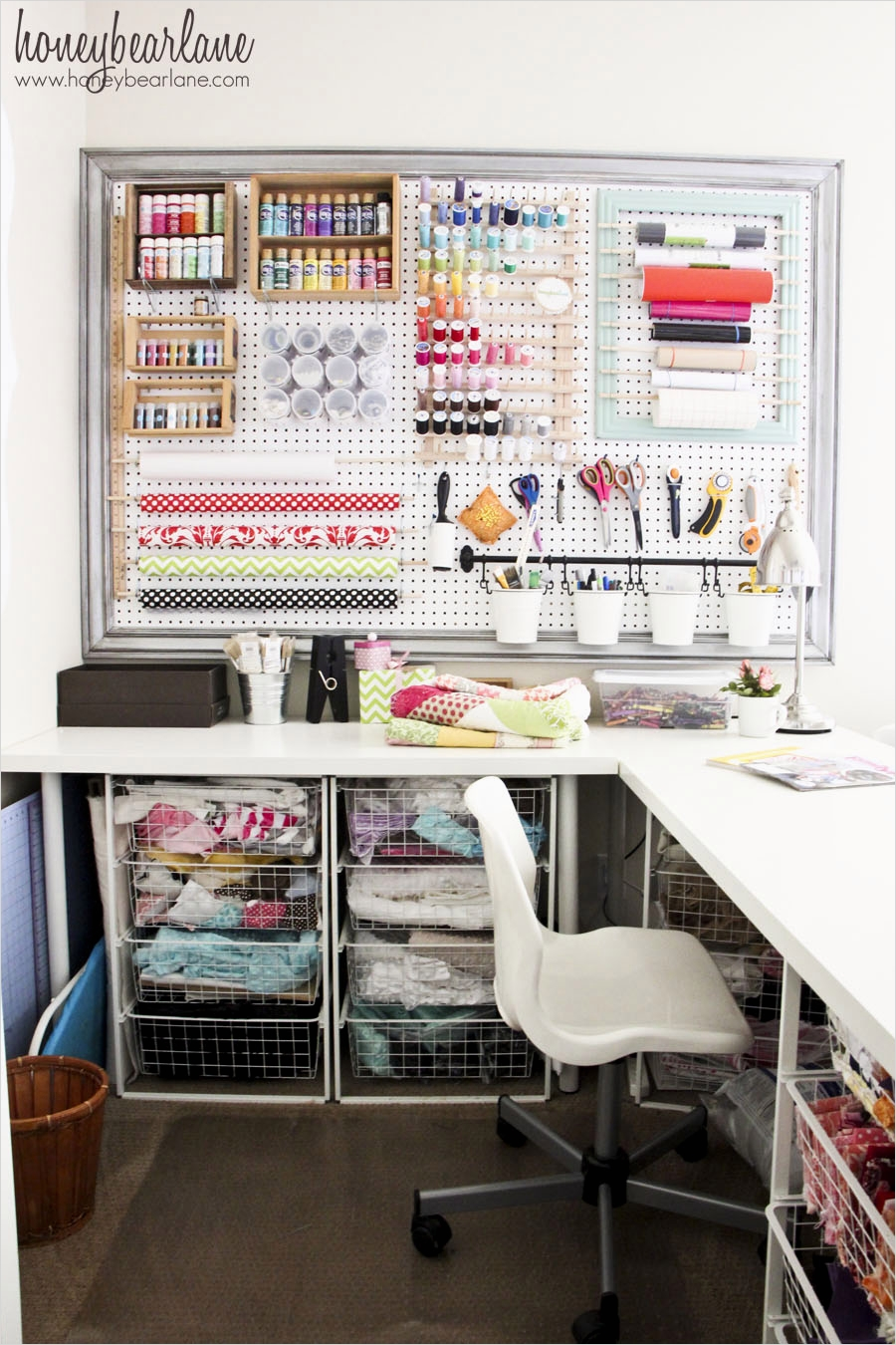 Sewing Room Ideas for Small Spaces 53 Craft Room Reveal Honeybear Lane 5