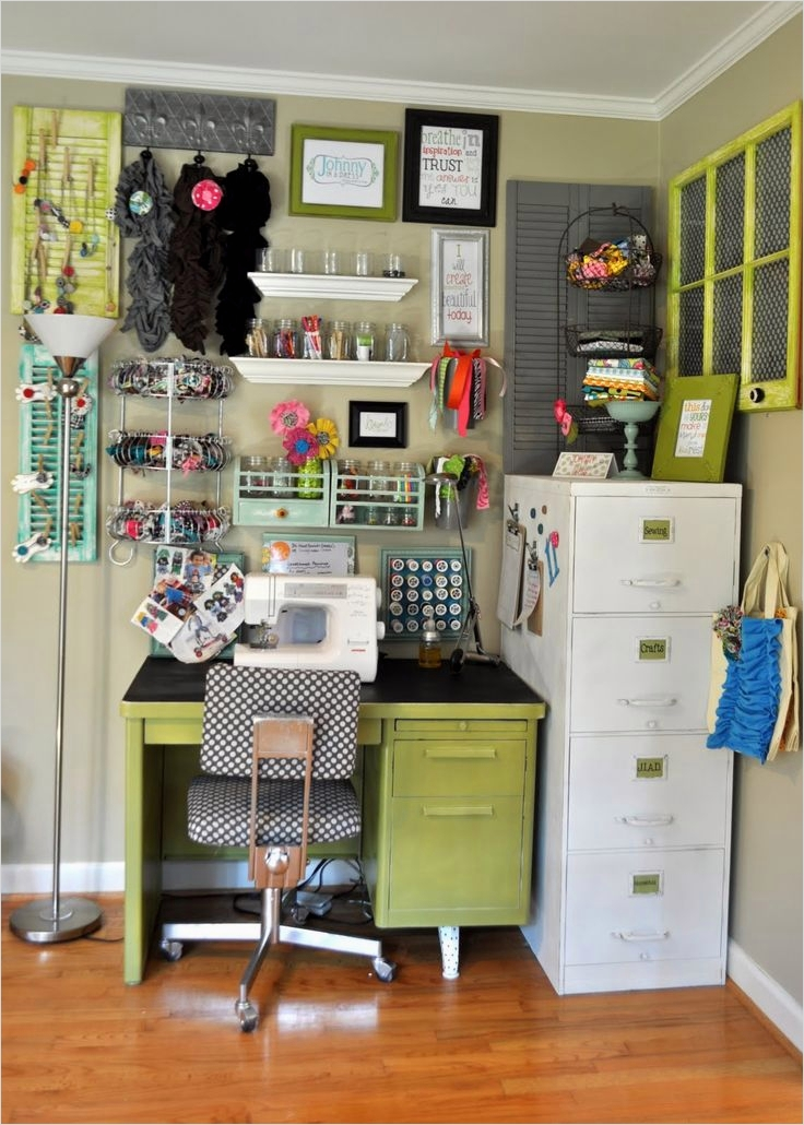 Sewing Room Ideas for Small Spaces 53 Awesome Small Craft Space Craft Space organization Inspiration 5