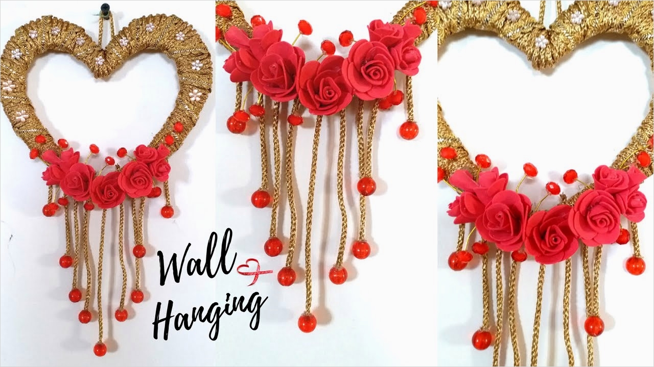 44 Creative Craft Wall Decoration Ideas 78 New Heart Wall Hanging Craft Ideas Easy Wall Decoration 8