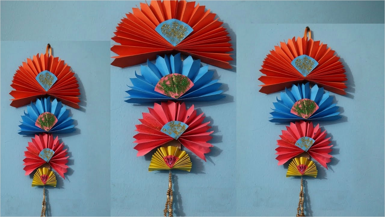 44 Creative Craft Wall Decoration Ideas 68 Diy Easy Wall Hanging Craft Ideas Using Colour Paper 5