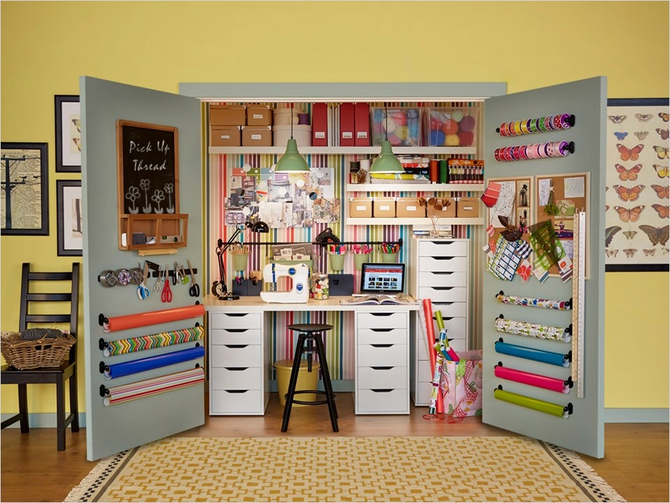 40 Creative Sewing Room Storage Ideas 51 10 Amazing Sewing Room Ideas 7