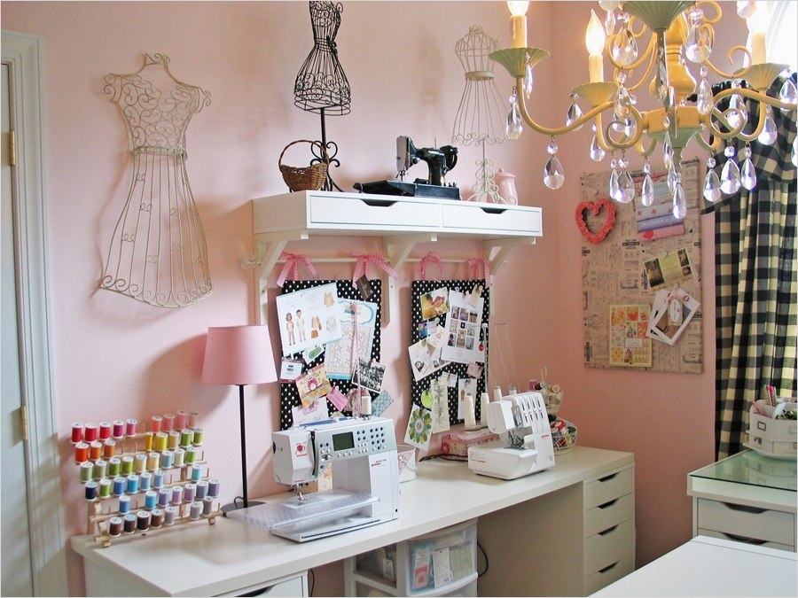 40 Creative Sewing Room Storage Ideas 88 A Dreamy Sewing Studio Olabelhe 6