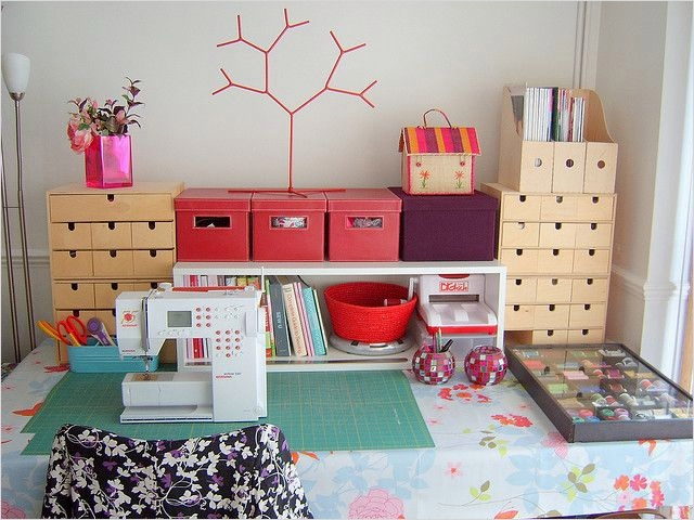 40 Creative Sewing Room Storage Ideas 48 Sewing Room organization Ideas Storage 2