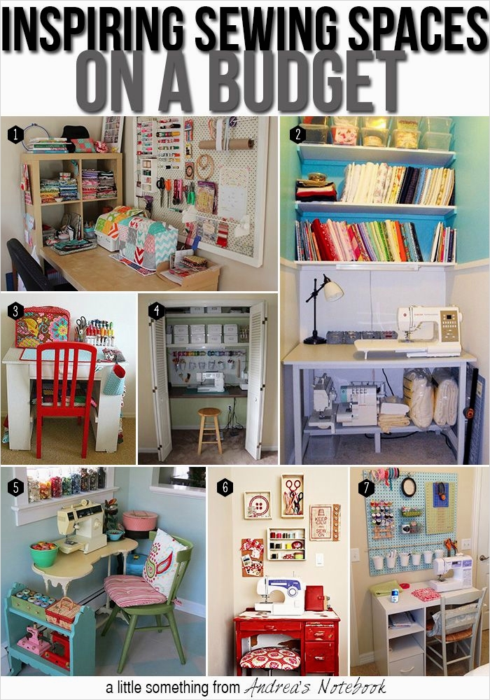 40 Creative Sewing Room Storage Ideas 47 Create A Sewing Space On A Bud Sewing Tutorials & Inspiration Pinterest 7