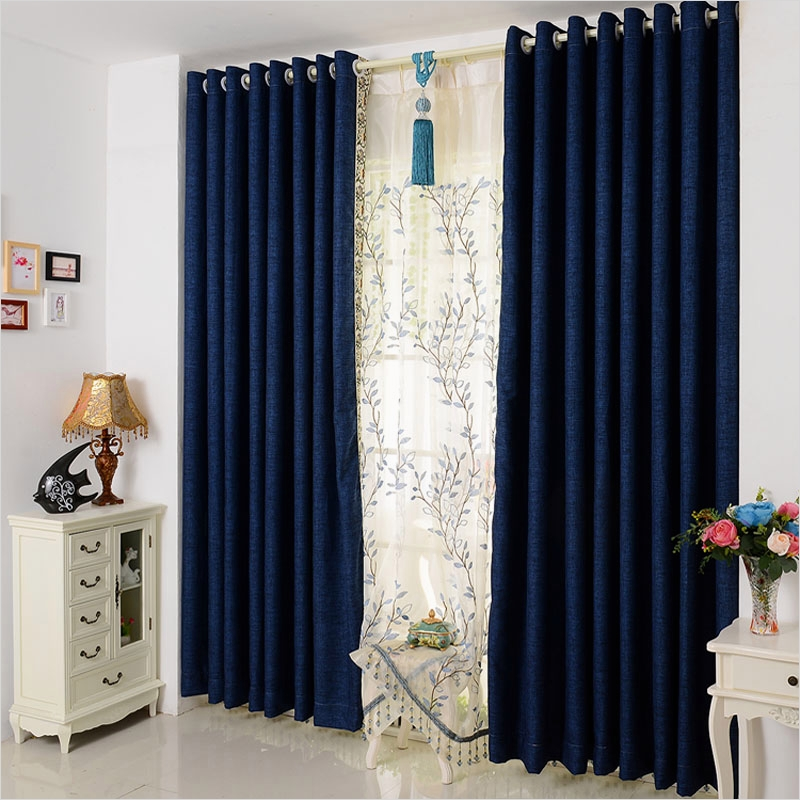 41 Stunning Simple Living Room Curtain Ideas 69 Modern and Simple solid Color Cotton Curtain Fabric 6