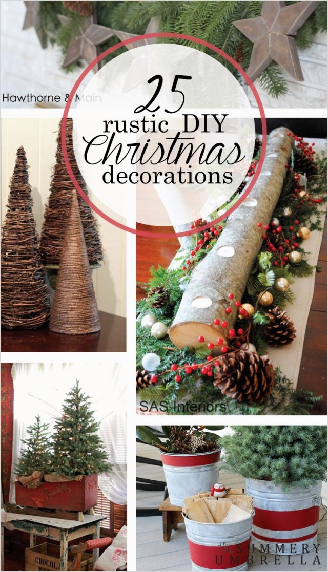 45 Diy Rustic Christmas Decorations 66 1000 Ideas About Red Christmas Decorations On Pinterest 8