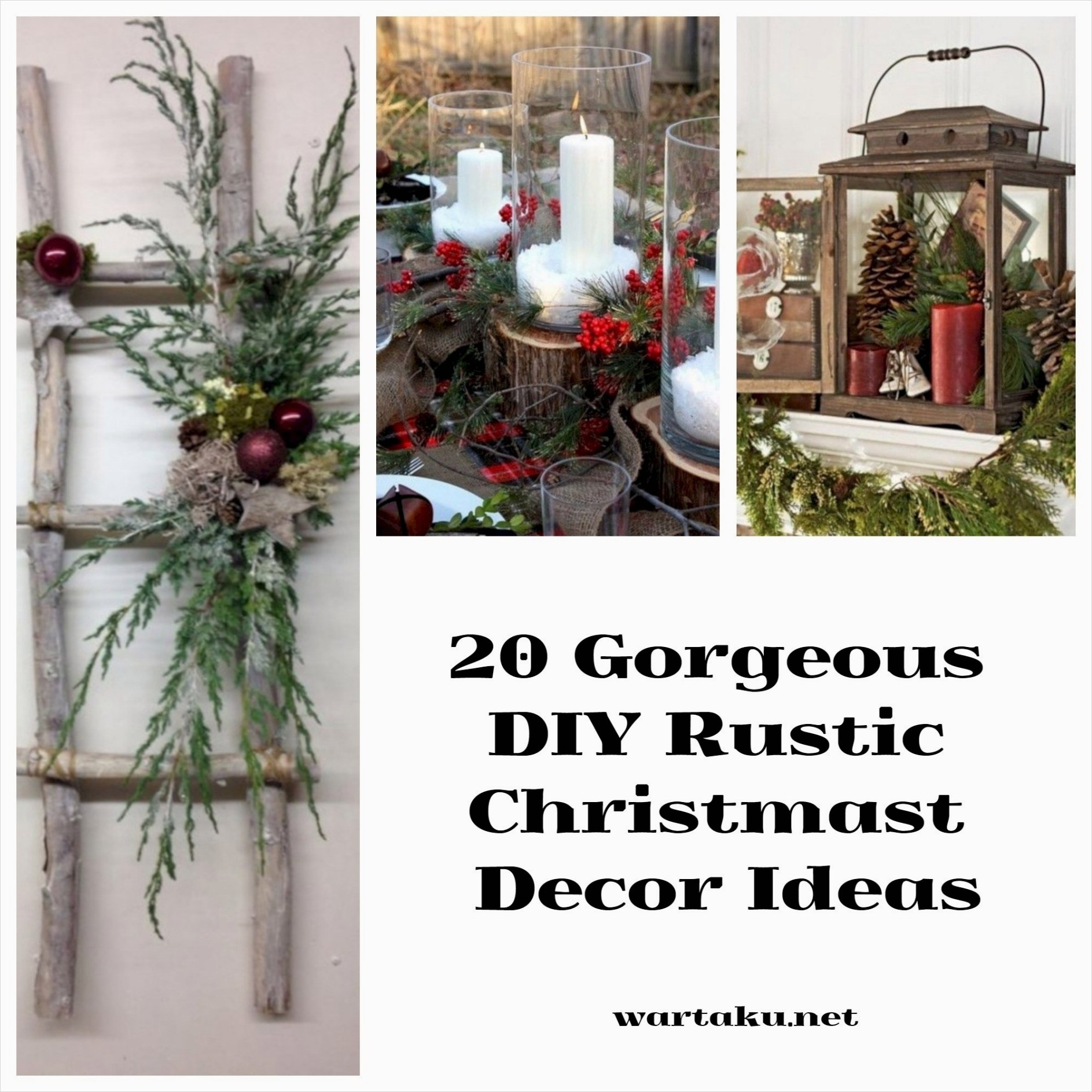 45 Diy Rustic Christmas Decorations 72 20 Gorgeous Diy Rustic Christmas Decor Ideas Wartaku 5