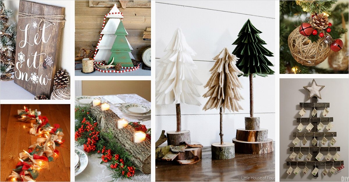 45 Diy Rustic Christmas Decorations 43 28 Best Rustic Diy Christmas Decor Ideas and Designs for 2018 5