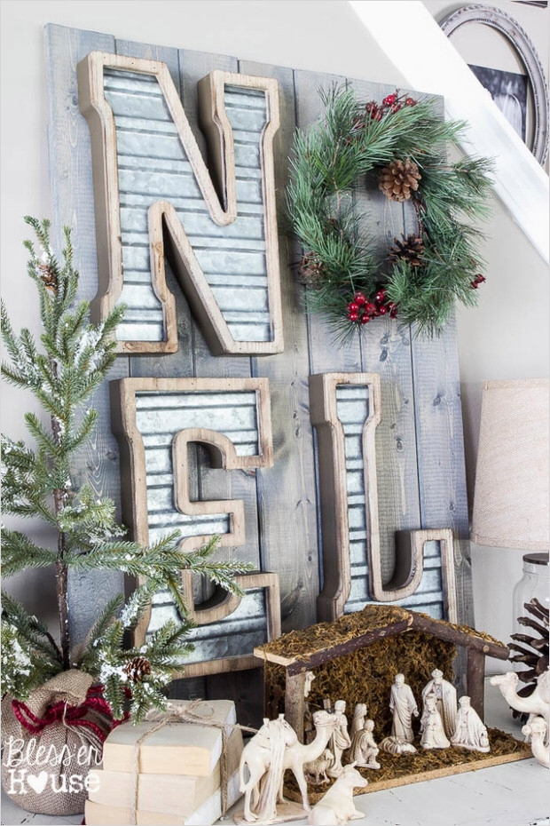 45 Diy Rustic Christmas Decorations 39 top Diy Rustic Christmas Decorating Ideas • the Bud Decorator 1