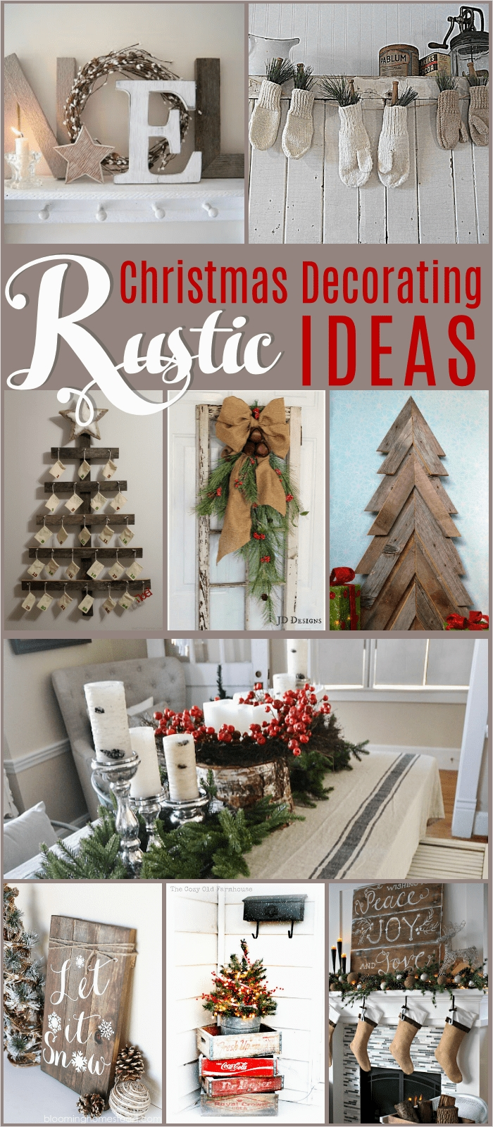 45 Diy Rustic Christmas Decorations 72 Rustic Christmas Decorating Ideas the Girl Creative 7