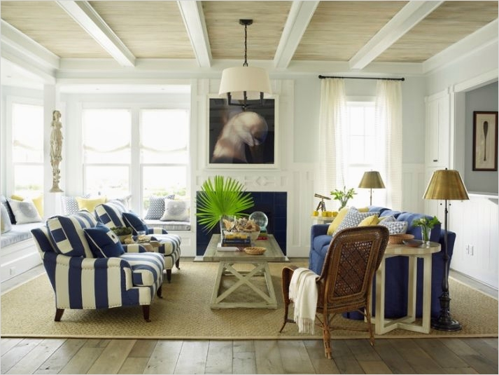 41 Amazing Navy Blue and White Living Room 62 Navy Beachy Living Room with White & Navy Furniture White Curtains Light Blue Walls 4