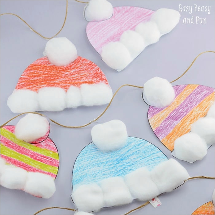 40 Diy Easy Winter Crafts 77 Winter Hats Craft for Kids Perfect Classroom Craft Easy Peasy and Fun 7