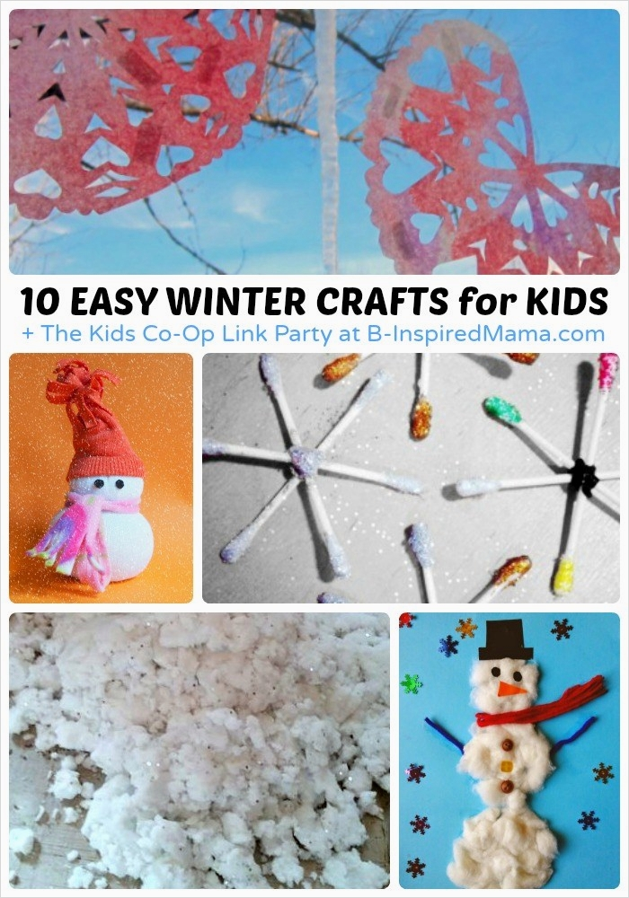 40 Diy Easy Winter Crafts 57 Easy Winter Crafts for Kids the Kids Co Op Link Party 6