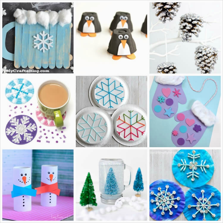 40 Diy Easy Winter Crafts 57 Easy Winter Kids Crafts that Anyone Can Make Happiness is Homemade 1