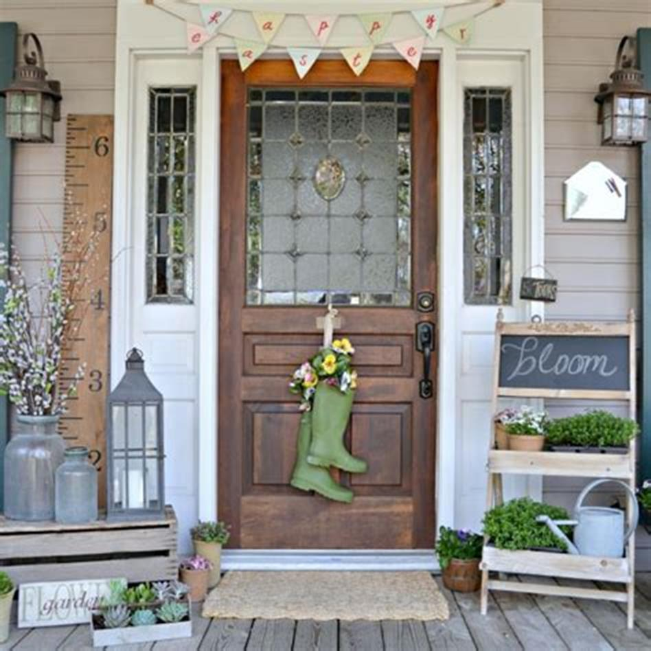 40 Beautiful Spring Front Porch Decorating Ideas You Will Love 12