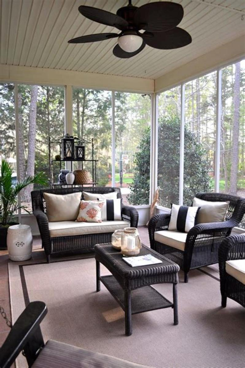 40 Best Screened Porch Design and Decorating Ideas On Budget 14