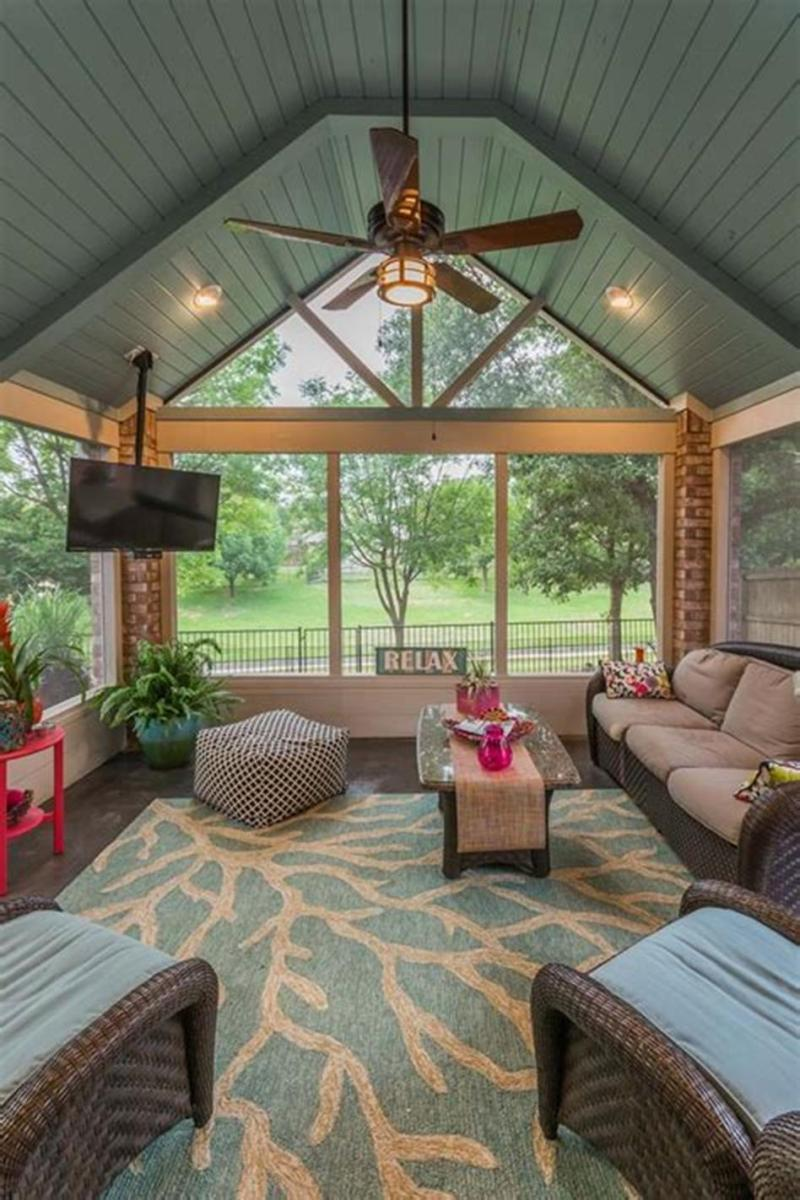 40 Best Screened Porch Design and Decorating Ideas On Budget 26