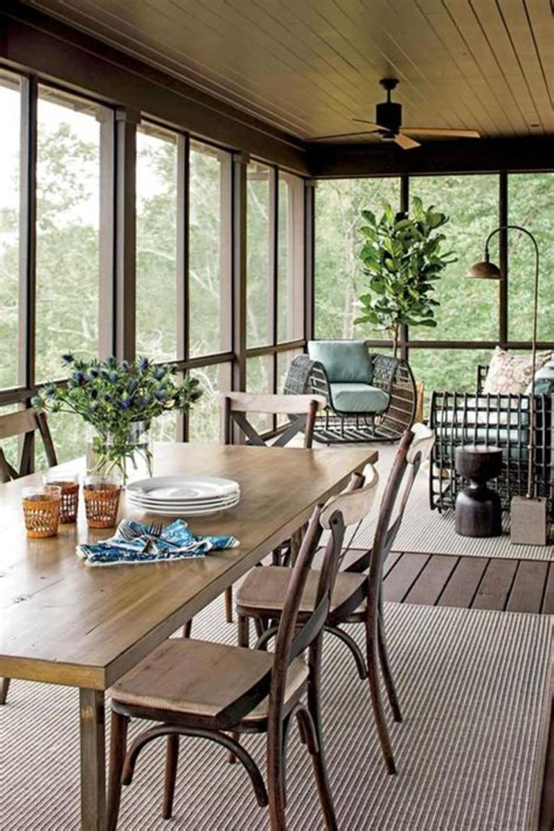40 Best Screened Porch Design and Decorating Ideas On Budget 27