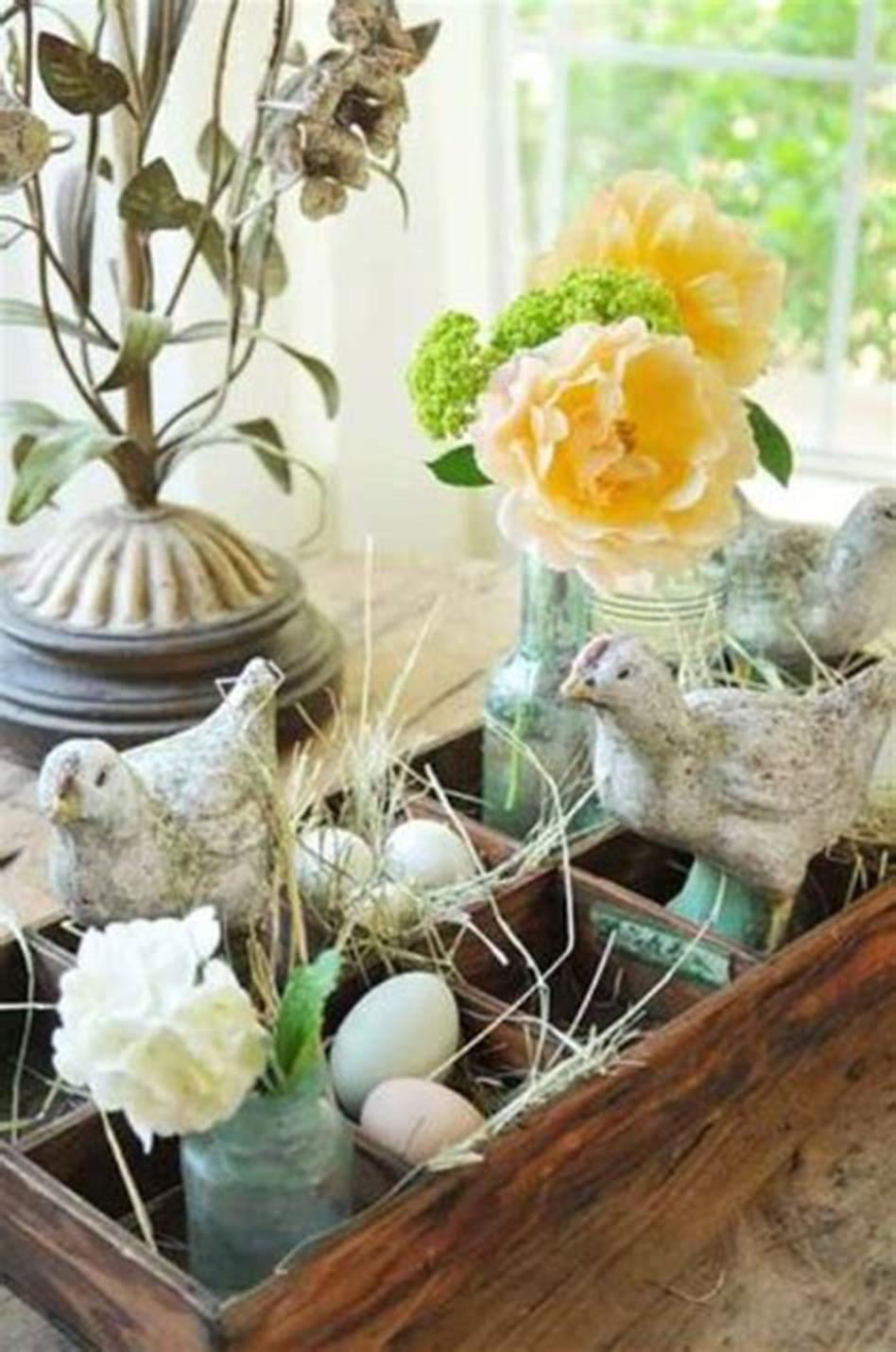42 DIY Beautiful Vintage Spring Decorations Ideas You Will Love 18