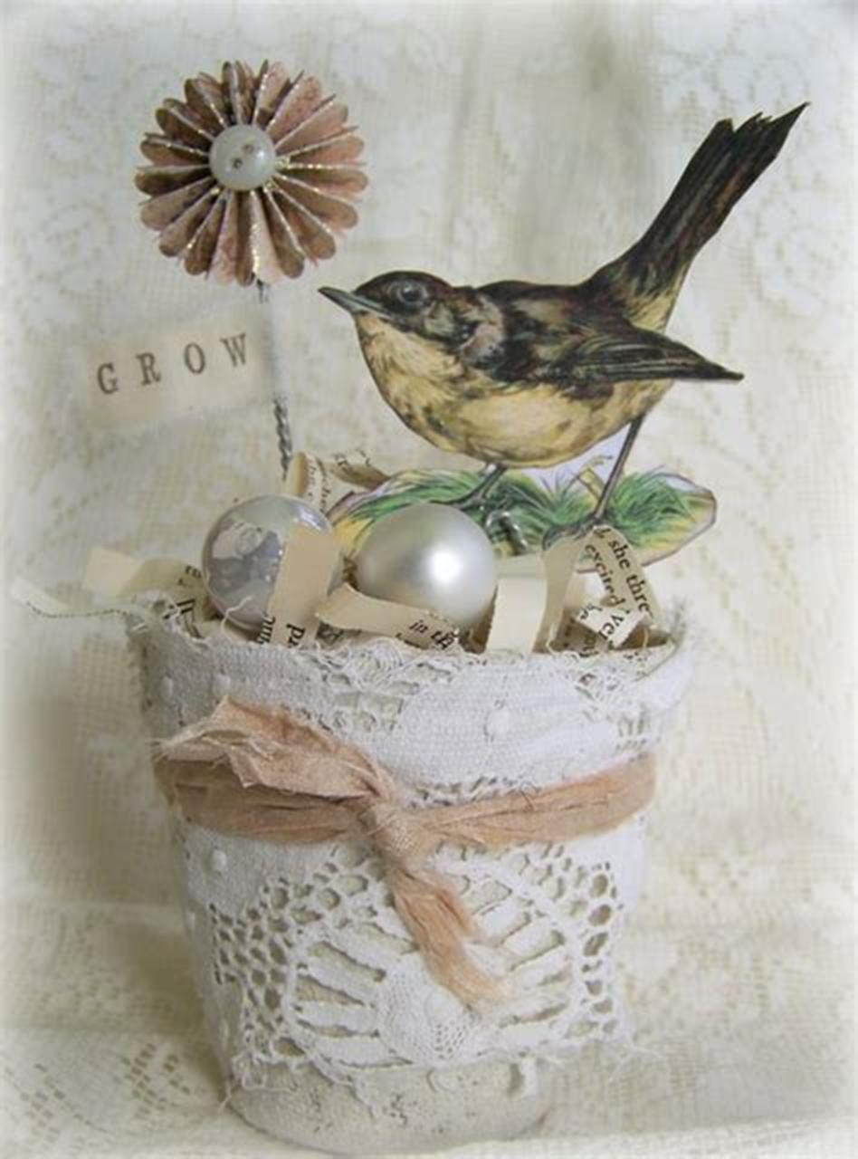 42 DIY Beautiful Vintage Spring Decorations Ideas You Will Love 31