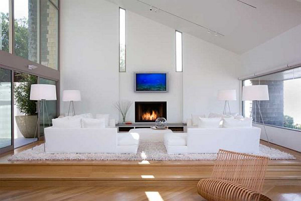 contemporary ideas for living rooms green accents room 14 gorgeous design modern white