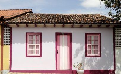casas casa antigas colonial coloniais fachadas acesso rosa cor projetos ideias decorfacil perfeitas imagem colunas demarcar duas servem principal estilo