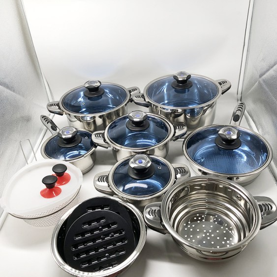 27 Pcs Stainless Cookware