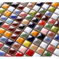 Rainbow Multicolored Ceramic Sink Mosaic Wall Tiles ...