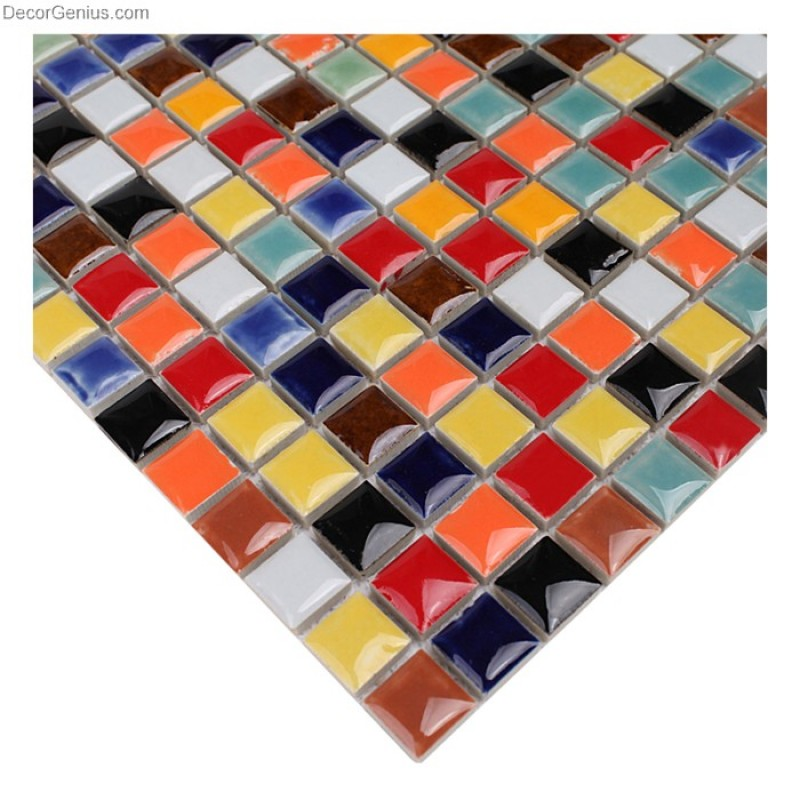 Porcelain Rainbow Floor Tile 2017 New Bathroom Mosaic