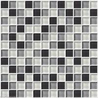 Wall Tile Stickers Bathroom Tile Black Grey White Glass ...