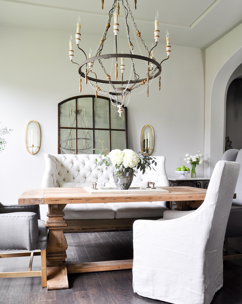 Leaning Mirror Dining Room