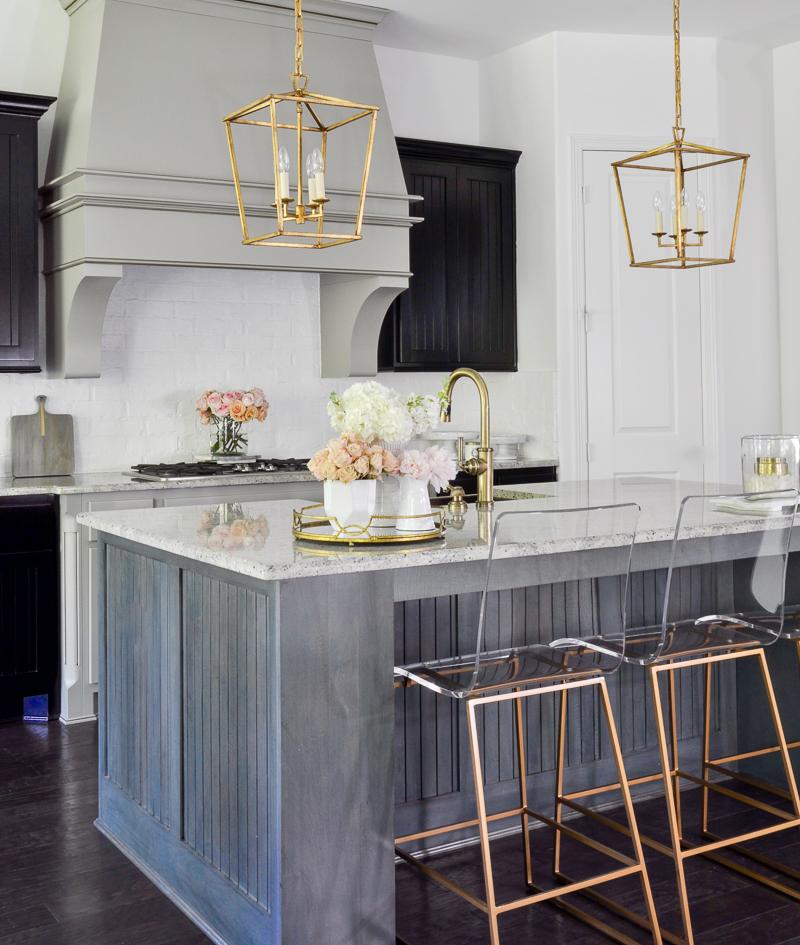 Gray Gold Kitchen Novocom Top