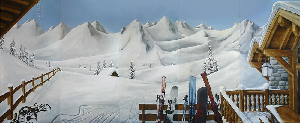 Wintersport decor decorverhuur sneeuwlandschap  DECOR