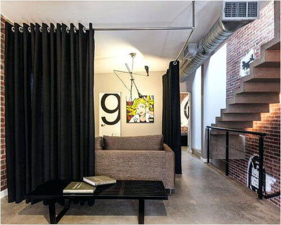 Beautiful And Unique Room Divider Curtains (70)
