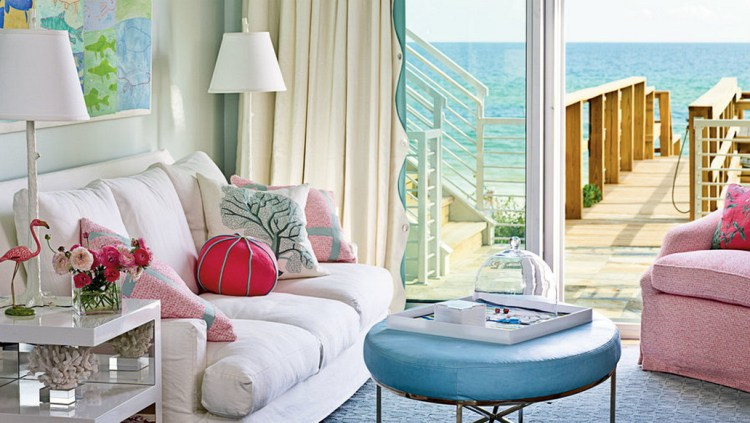 Colorful Oceanfront Living Room