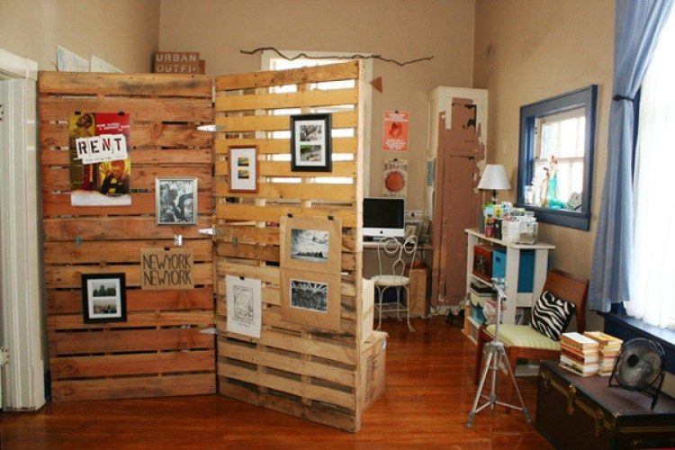 Creative Reclaimed Wood Room Divider