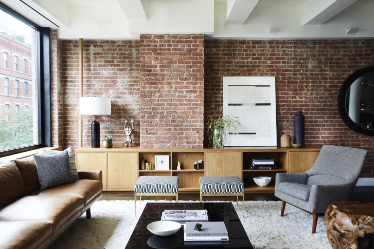 Relaxed And Effortless Brick Wall Home Design