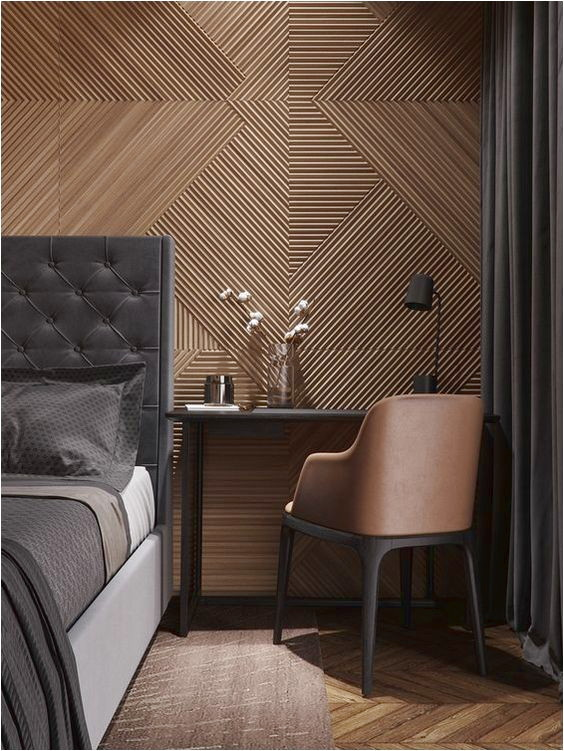 Unique Interior Design Of Textured Room Walls