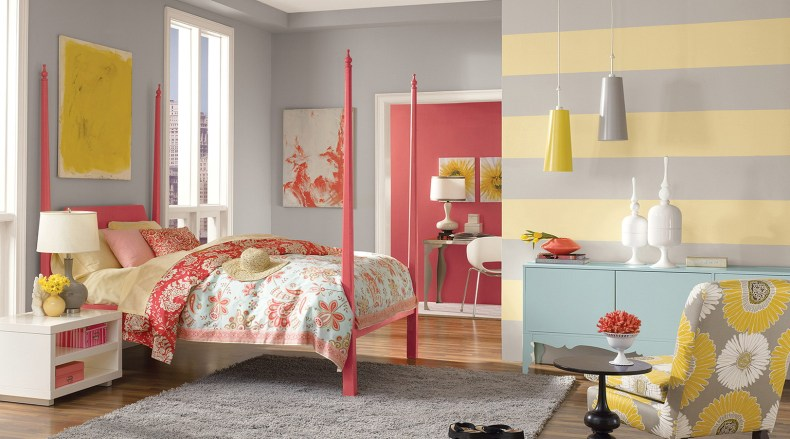Wonderful Teenage Rooms For Girls Dresses Flowers Blanket Motif With Cabinets And Lamp Table And Flowers Sofa Motif And Chandeliers